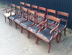 12 antique dining chairs carver 21½w 22d 34h single 18½w 20d 34h 18hs 13.JPG