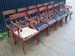 12 antique dining chairs carver 21½w 22d 34h single 18½w 20d 34h 18hs 6.JPG