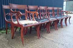 12 antique dining chairs carver 21½w 22d 34h single 18½w 20d 34h 18hs 7.JPG