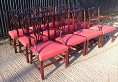 12 Antique Dining Chairs carver 26w 38h 24d 18hs single 22½w 38h 23d 18hs _11.JPG