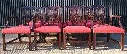 12 Antique Dining Chairs carver 26w 38h 24d 18hs single 22½w 38h 23d 18hs _7.JPG