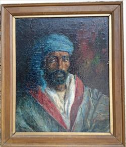Antique oil painting of a North African man.jpg