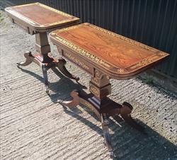 1820 Pair Of Antique Card Tables 35 x 35½ open17½ x  x 35½ closed 28½h open 29h closed _6.JPG