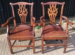 2 Antique Armchairs 24½ w 38½h 18d 18hs _1.JPG