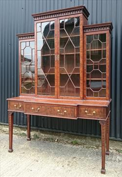 1790 Antique Secretaire Bookcase 59w surface 60¼w cornice 74h 24d max 9.JPG