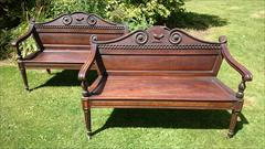 Cuban mahogany antique seats - The Clogrennan Hall Seats.jpg