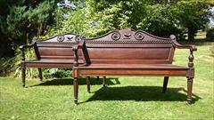 Cuban mahogany antique seats - The Clogrennan Hall Seats1.jpg