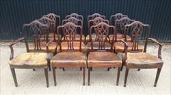12 19th century antique dining chairs 37h 20w 18½hs 19d single 38h 23½w 18½hs 19½d carver _1.JPG