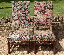 Antique Pair of Jacobean Style 19th Century Chairs 45h 20w 29d 17h seat _1.JPG