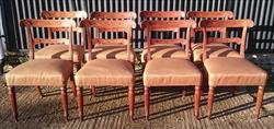 8 plus one free spare Regency Oak wonderful  dining chairs 33½h 20w 20d 18hs _3.JPG