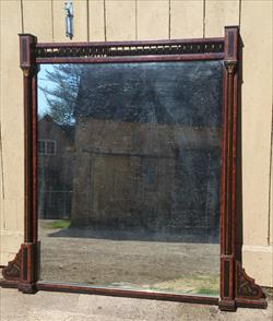 19th century ebonised and amboyna wood over mantle mirror.jpg