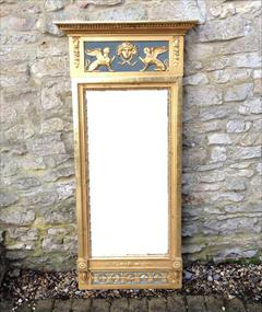 Regency gilded and decorated antique pier glass mirror1.jpg