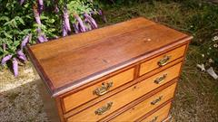oak and mahogany antique chest of drawers2.jpg