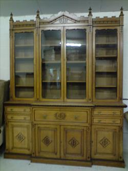 oak antique breakfront bookcase.jpg