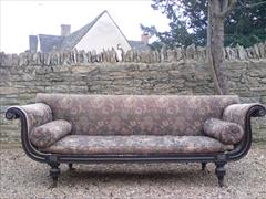 Regency ebonised beech antique sofa.jpg
