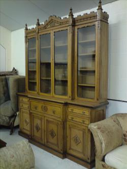 1870 aesthetic movement antique oak bookcase.jpg