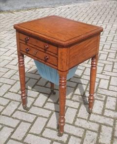 Oak and rosewood antique sewing table1.jpg