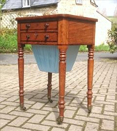 Oak and rosewood antique sewing table2.jpg