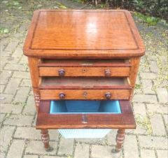 Oak and rosewood antique sewing table6.jpg