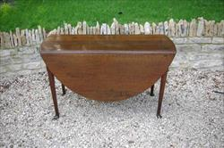 George III oak drop leaf pad foot table.jpg