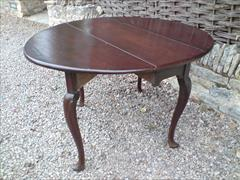 Antique pad foot gate leg dining table4.jpg