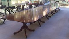 six pedestal mahogany antique dining table6.jpg