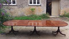 George III mahogany antique dining table3.jpg