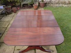George III period mahogany Sunderland antique dining table2.jpg