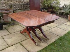 George III period mahogany Sunderland antique dining table5.jpg