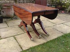 George III period mahogany Sunderland antique dining table6.jpg