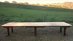 Satin birch antique dining table.jpg