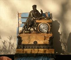 Antique Sienna Marble Clock 21h 17w 6d _2.JPG