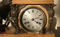 Antique Sienna Marble Clock 21h 17w 6d _4.JPG