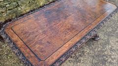 Antique Oak Library Table 27halfd 56w 27h 13.JPG