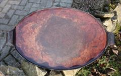 Antique Bultlers Tray Leather 23w 14d 2halfH 2.JPG