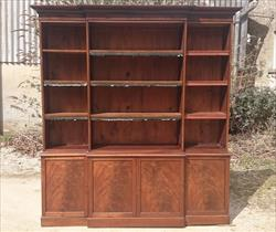 Antique Mahogany Bookcase 85w 16½d 95h 5.JPG