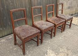 4 Antique Oak Chairs Original Leather _10.JPG