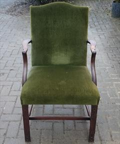 Antique Chippendale Library Chair 25d 38½h 25wm 19hs 19ds 21ws 1.JPG