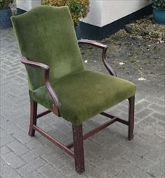 Antique Chippendale Library Chair 25d 38½h 25wm 19hs 19ds 21ws 3.JPG
