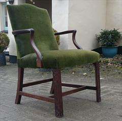 Antique Chippendale Library Chair 25d 38½h 25wm 19hs 19ds 21ws 4.JPG