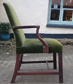 Antique Chippendale Library Chair 25d 38½h 25wm 19hs 19ds 21ws 6.JPG