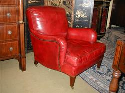19th century antique armchair by Howard and Son - Bridgewater model.jpg