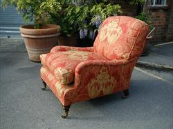 Late 19th century Howard and Sons antique armchair - Grafton model.jpg