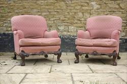 Howard and Sons pair of antique armchairs - Bridgewater model.jpg