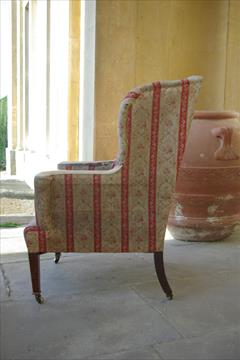 19th century Howard and Sons wing chair1.jpg
