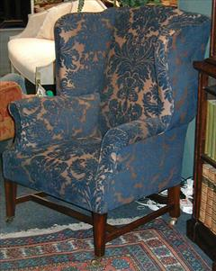 George III style wing chair made by Howard and Sons3.jpg