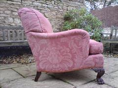 Howard and Sons antique armchair - Bridgewater model with Ramsden leg carving1.jpg