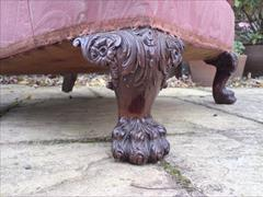 Howard and Sons antique armchair - Bridgewater model with Ramsden leg carving2.jpg