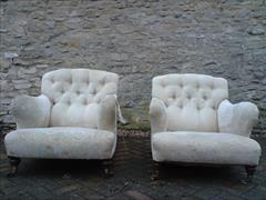 Antique armchairs by Howard and Sons of Berners Street in London4.jpg