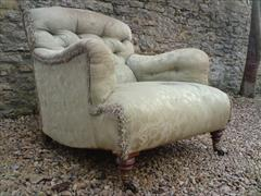 Howard and Sons button back antique armchair - Bridgewater model.jpg
